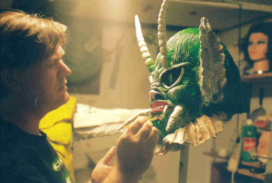 mesculptingshecreature.jpg, warren disbrow, warren f disbrow, invasion for flesh and blood, she creature, flesh eaters from outer space, invasion for flesh and blood, haunting of holly house, haunted hay ride, ny times, romero, cronenberg, stephen king, new jersey artist, new jersey filmmaker, new jersey feature filmmaker, amazing movies, forry ackerman, classic monsters, AIP