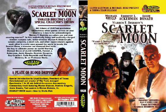 shrunk000_scarlet-dec-white-noskull.jpg, Scarlet Moon movie, new york times profiled, twice ny times critic's choice, auteur, horror, sci fi, horror, vampires, occult, sex, death, troma, genius, warren f disbrow, warren disbrow, monsters, forry ackerman, michael bruce, aclice cooper, fisher, francis, clerks, smith, successsful